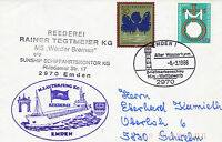 GERMAN CARGO SHIP WERDER BREMEN A SHIPS CACHED COVER