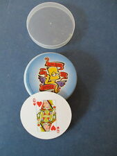PLAYING CARDS, ROUND DECK OF BART SIMPSON PLAYING CARDS,IN ORIGINAL PLASTIC CASE
