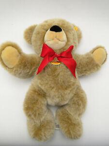 Steiff 16in Bobby Plush Teddy Bear with Tags & ear button #013898