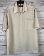 Moschino Jeans Large Beige Button Down Shirt Top Made In Italy a6