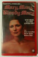 Mary, Mary, Bloody Mary VHS 1975 Horror Christina Ferrare Showcase Video Large