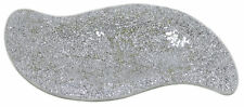 NEW Silver Sparkle Mirror Mosaic Large Decorative Plate Bowl Display Dish