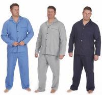 Men's Big & Tall Plain Woven Poplin Pajama Set 3XL-5XL