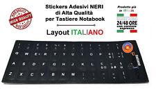 ADESIVI ETICHETTE STICKERS TASTIERA ITALIANA PC NOTEBOOK COLORE NERO
