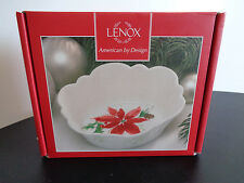 """Lenox Fluted Candy Dish Winter Meadow Holiday 4.75 """" New In Package Free Ship"""