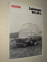 Brochure Remorque FAHR Ladewagen tracteur tractor Traktor Prospekt Prospectus