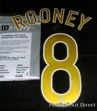 Manchester United Rooney 8 06/07 Champions League Football Name Set Player Size
