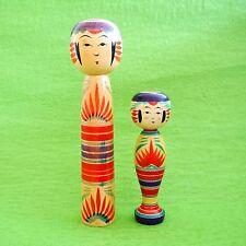 Japanese YAJIRO KOKESHI Dolls by Denki Sato, Jyukichi Hayashi Lot of 2 #11