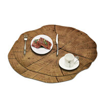 2 Pcs Placemat Bowl Mat Waterproof Pad Coasters Kitchen Table Dining Decor Set