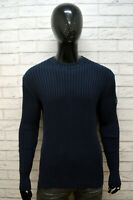 MURPHY & NYE Maglione Uomo Maglia Cardigan Blu Pullover Taglia XL Sweater Man