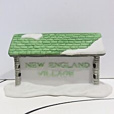 New England Village Sign Depart 56 Porcelain Holiday Village Accessory, Used Box