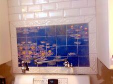 Art Mural Ceramic Lilly Monet Bath Backsplash Tile #121