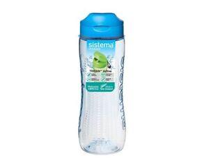Assored Colour Sistema Tritan Active Bottle 0.8L Sport School Water Lunch Picnic