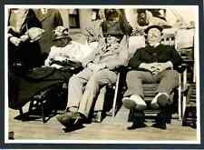 Tourists taking sunbath on board of a ship  Vintage silver print.  Tirage arge