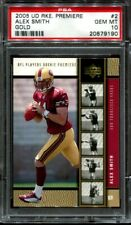 Alex Smith 2005 Upper Deck Rookie Premiere Gold #2 RC PSA 10
