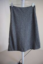 Ann Taylor Wool Blend Multi-Colored Below Knee Lined A-Line Skirt Size - 8P
