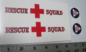 Replacement  water slide decal set for Tonka Rescue Squad
