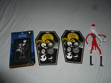 NEW NIGHTMARE BEFORE CHRISTMAS LOT BUTTONS SET BENDY JACK FIGURE SWITCH PLATE >>