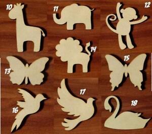 Animals Various sizes Laser cut MDF wooden Craft Set Shape Tags Embellishment v2