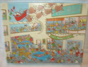 SPRINGBOK 500 PIECE JIGSAW PUZZLE ~ LAST MINUTE MADNESS ~ 100% COMPLETE