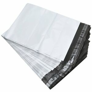300 9x12 White Poly Mailers Self Sealing Shipping Envelopes Plastic Bags 2.5 Mil
