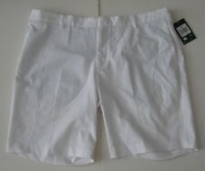 40 Men Nike Golf Modern Fit Flat Front Shorts White Dri-Fit new NWT