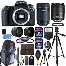 Canon EOS 77D SLR Camera + 18-135mm USM + 55-250mm STM 4 Lens 32GB Valued Kit