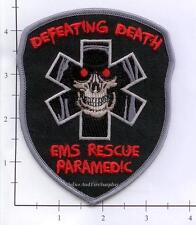 Defeating Death - EMS Rescue Paramedic Fire Dept Patch