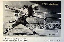 PUBLICITE  SUZE N° 836 SPORT LUTTE CATCH SIGNE PAUL ORDNER DE 1936 FRENCH AD PUB