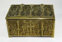 Antique Ecclesiastical Casket Medieval Religious Church Chest~Old Gothic