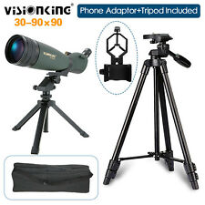 Visionking 30-90x90 Spotting Scope W/Cell Phone Adaptor+Tripod Zoom Waterproof