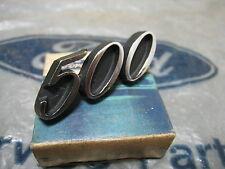 ZD FAIRLANE 500 GENUINE FORD NOS DASH PANEL NAME BADGE