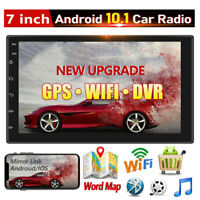 Android 10 Car Stereo Radio GPS Navi WIFI USB 2DIN MP5 Player 7'' Touch Screen