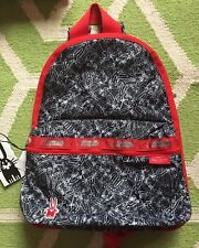 NWT Lesportsac Peter Jensen Scribble Rabbits Bunny Basic Backpack with pouch New