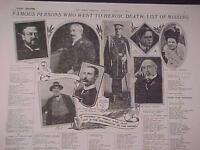 VINTAGE NEWSPAPER HEADLINE~STEAM SHIP SEA DISASTER TITANIC LIST OF DEAD  MISSING