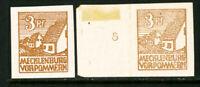 Mecklenburg Stamps Michel 29XA-XB XF OG NH 275 Euros