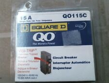 Square D Qo115C 15A Single Pole Circuit Breaker, Free Shipping