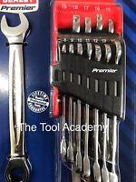 PREMIER RANGE Lifetime Ratchet Combination Spanner Wrench Set 8-19mm NL21
