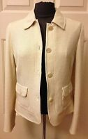 AGNONA White Top Jacket Blazer Size 42 From Bergdorf Goodman Made in Italy