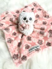 Blankets and Beyond Owl Soft Security Blanket Pink White Grey Baby Girl Lovey