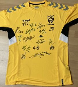 Trikot/Jersey A-National-Team Lithuania original signed