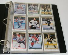 1990/1991 O-PEE-CHEE PREMIER 132 HOCKEY CARDS IN BINDER (EXCELLENT CONDITION!)