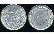 ESPAGNE 5 pesetas 1957 ( 71 )