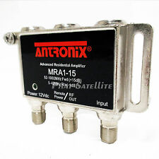 ANTRONIX MICRO AMP COAXIAL RG6 CABLE AMPLIFIER HDTV HD TV Signal Booster MRA1