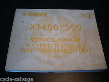 Yamaha XT 400 550 1982 Wartungsanleitung Service Manual D'Atelier Handbuch