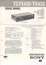 Sony-tc-fx430/fx433 - Service Manual grafico-b3190