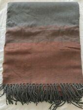 Bedding Heaven Grey/Burnt Orange with gold specks Blanket / Throw 130 x 150 cm