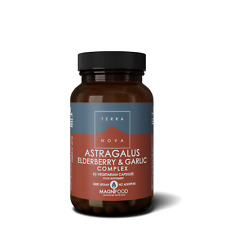 Terranova Astragalus, Elderberry & Garlic Complex 50 Veg Capsules
