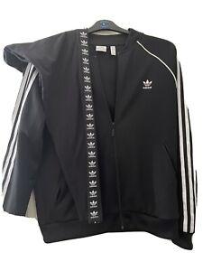 Black Adidas Jacket & Leggings Size 18