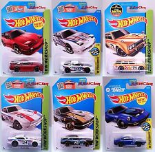 6 Hot Wheels JDM Import Cars Nissan 180SX Datsun Bluebird 240Z Nissan Fairlady